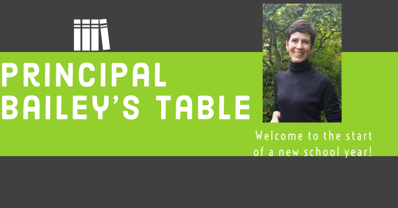 Principal Bailey's Table