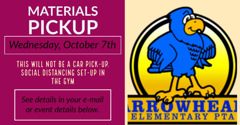 October 7 Materials Pickup
